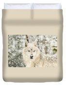 Snowy Wolf Duvet Cover