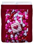 So Many Candy Hearts Duvet Cover