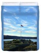 Soap Lake Washington Duvet Cover