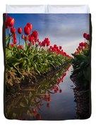 Soaring Crimson Tulips Duvet Cover