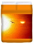 Soaring In The Sunset Duvet Cover