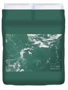 Soaring Over The Falls Waters Too Duvet Cover
