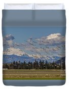 Soaring Skagit Snow Geese Duvet Cover