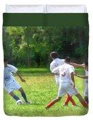 Soccer Ball In Play Duvet Cover