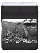 Soccer Crowd At Highbury Duvet Cover
