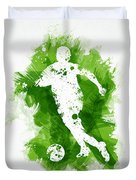 Soccer Player Duvet Cover by Aged Pixel