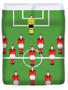 Soccer Team Football Players Duvet Cover