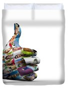 Social Media People Painted Hand In Ok Sign Duvet Cover