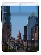 So Co View Of The Texas Capitol Duvet Cover