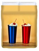 Soda Fountain Joy Duvet Cover