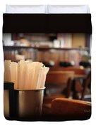 Soda Straws Duvet Cover