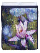 Water Lily Photography Tender Moments  Duvet Cover