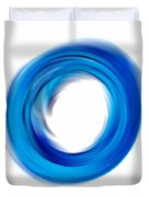 Soft Blue Enso - Abstract Art By Sharon Cummings Duvet Cover