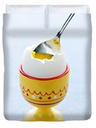 Soft Boiled Egg In Cup Duvet Cover by Elena Elisseeva