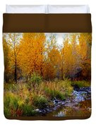 Soft Forest Colors Duvet Cover