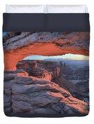 Soft Light On The Rocks Duvet Cover