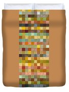 Soft Palette Rustic Wood Series Collage Lll Duvet Cover