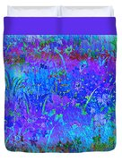 Soft Pastel Floral Abstract Duvet Cover