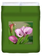 Soft Pink Calla Lilies Duvet Cover