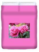 Soft Pink Roses Duvet Cover
