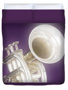 Soft Trumpet On Purple Duvet Cover