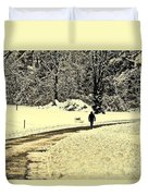 Softly As I Leave You Duvet Cover