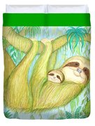 Soggy Mossy Sloth Duvet Cover