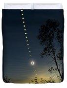 Solar Eclipse Composite, Queensland Duvet Cover