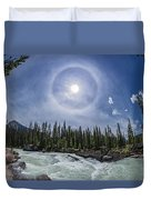 Solar Halo Over Natural Bridge, Yoho V1 Duvet Cover