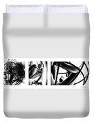 Solar Jail Triptych Duvet Cover