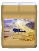 Solar Panels Aerial View Duvet Cover