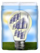 Solar Power Lightbulb Duvet Cover