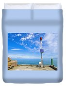 Solar-powered Light In Halls Harbour In Nova Scotia-canada Duvet Cover