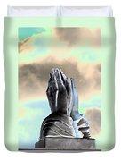 Solar Praying Hands Duvet Cover