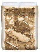 Soldier On Horse Duvet Cover
