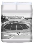 Soldier's Field Boxing Match Duvet Cover