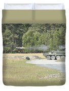 Soldiers Fire A Tow Missile Duvet Cover