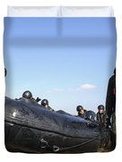 Soldiers Of The Japan Ground Duvet Cover