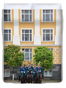 Soldiers Of The Presidential Regimental Duvet Cover
