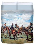 Soldiers On Horseback Duvet Cover