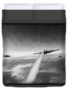 Wounded Warrior - Charcoal Duvet Cover