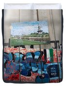 Solidarity With Palestine Duvet Cover