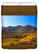 Solider Mountain Shadows Duvet Cover