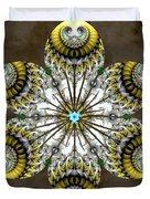 Solitary Bird Of Prey Duvet Cover by Derek Gedney