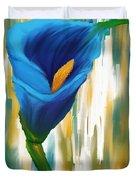 Solitary Blue Duvet Cover