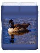 Solitary Goose Duvet Cover
