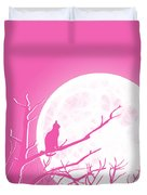 Solitary Pink Background Duvet Cover