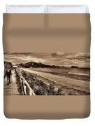 Solitude Sepia Duvet Cover