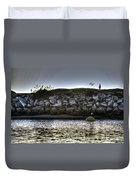Solo At The Harbor At Dusk 2 Duvet Cover
