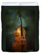Solo Upright Bass Duvet Cover